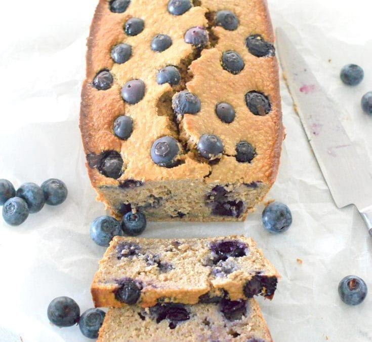 Healthy Blueberry Banana Breakfast Bread